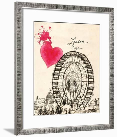 London Eye in Pen-Morgan Yamada-Framed Art Print