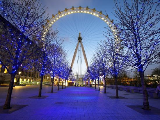 London Eye Is Giant Ferris Wheel, Banks of Thames Constructed for London's Millennium Celebrations-Julian Love-Photographic Print