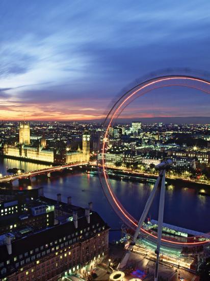 London Eye, London, England-Doug Pearson-Photographic Print