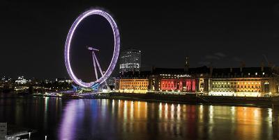 London Eye, Night- Cristapper-Art Print