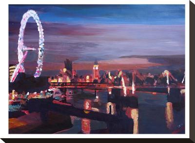 London Eye Night-M Bleichner-Stretched Canvas Print