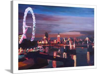 London Eye Night-M Bleichner-Stretched Canvas Print