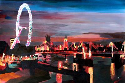 London Eye Night-Markus Bleichner-Art Print