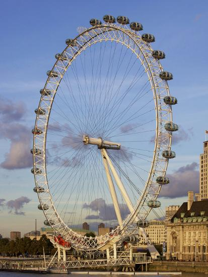 London Eye, River Thames, London, England, United Kingdom, Europe-Jeremy Lightfoot-Photographic Print