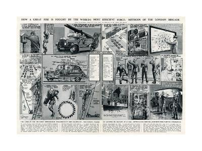 London Fire Brigade's Organisation and Equipment-George Horace Davis-Premium Giclee Print
