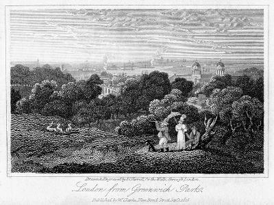 London from Greenwich Park, 1816-I Varrall-Giclee Print