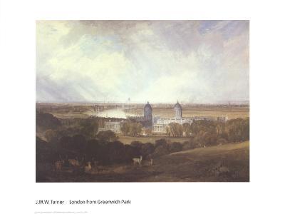 London from Greenwich Park-J^ M^ W^ Turner-Art Print