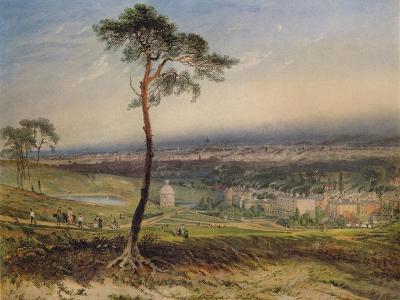 London, from Hampstead, 1834-George Sidney Shepherd-Giclee Print