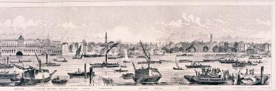 London from the River Thames, 1844-Frank Vizetelly-Giclee Print