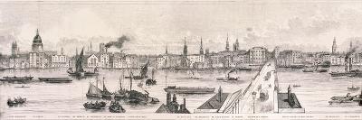 London from the River Thames, 1844-Frank Vizetelly-Giclee Print