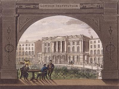 London Institution, Finsbury Circus, C1820--Giclee Print