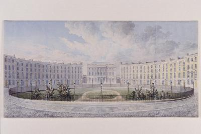 London Institution, Finsbury Circus, London, C1820--Giclee Print