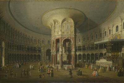 London: Interior of the Rotunda at Ranelagh, 1754-Canaletto-Giclee Print
