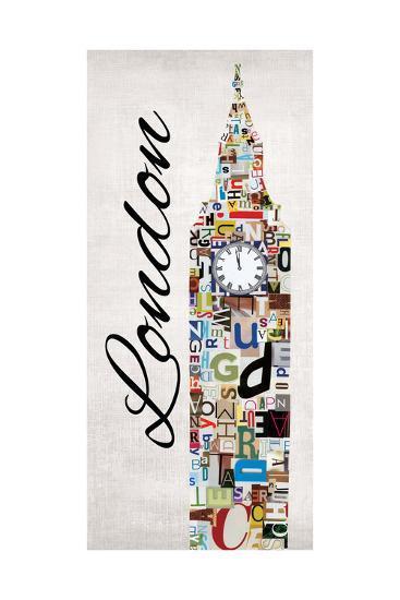 London Letters-Jeni Lee-Art Print