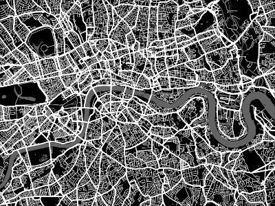 London Map Art-Michael Tompsett-Art Print