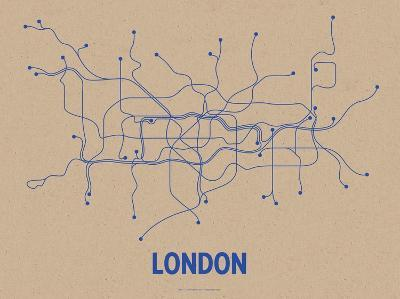 London (Oatmeal & Blue)-LinePosters-Serigraph