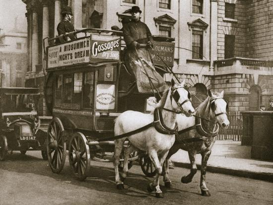London omnibus, early 20th century-Unknown-Photographic Print