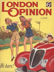 London Opinion, Hitchhiking Glamour Magazine, UK, 1930