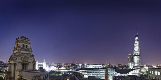 London, Panorama, Trinity House, Jewel House at the Tower of London, Roof Terrace Mint Hotel-Axel Schmies-Photographic Print