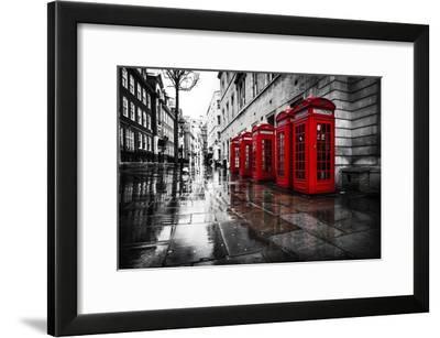 London Phones-Vladimir Kostka-Framed Photographic Print
