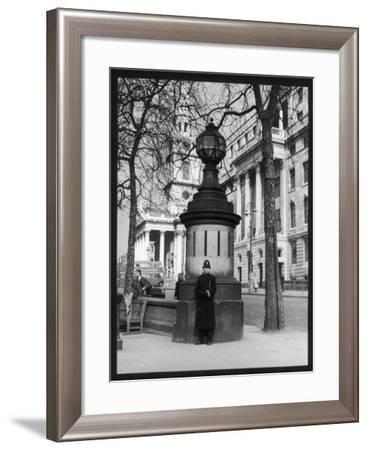 London Police Box--Framed Photographic Print