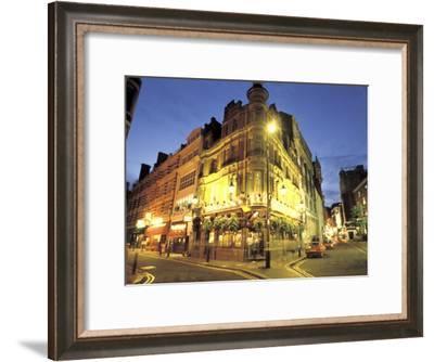 London Pub at Night-Richard Nowitz-Framed Photographic Print