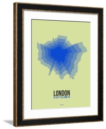 London Radiant Map 4-NaxArt-Framed Art Print