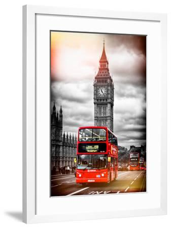 London Red Bus and Big Ben - City of London - UK - England - United Kingdom - Europe-Philippe Hugonnard-Framed Photographic Print