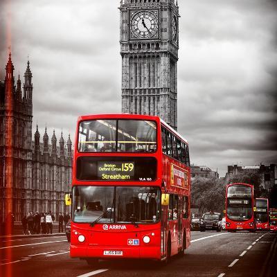 London Red Bus and Big Ben - City of London - UK - England - United Kingdom - Europe-Philippe Hugonnard-Photographic Print