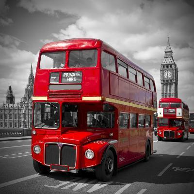 London Red Busses-Melanie Viola-Art Print