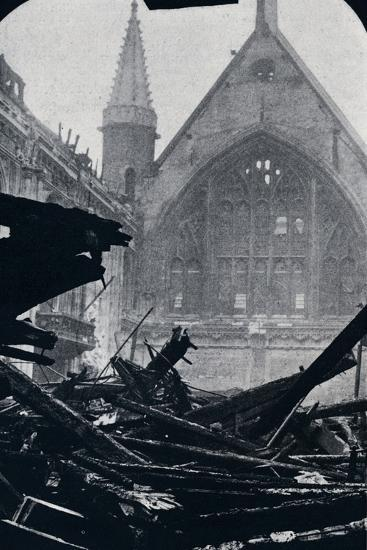 'London's Guildhall after the fire of December 29th December 1940'-Unknown-Photographic Print