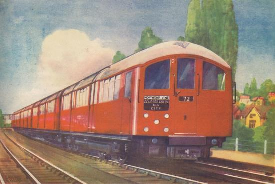 'London's New Streamlined Underground Train, Northern Line', 1940-Unknown-Giclee Print
