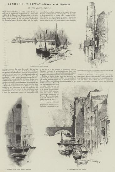 London's Tideway-Charles Auguste Loye-Giclee Print
