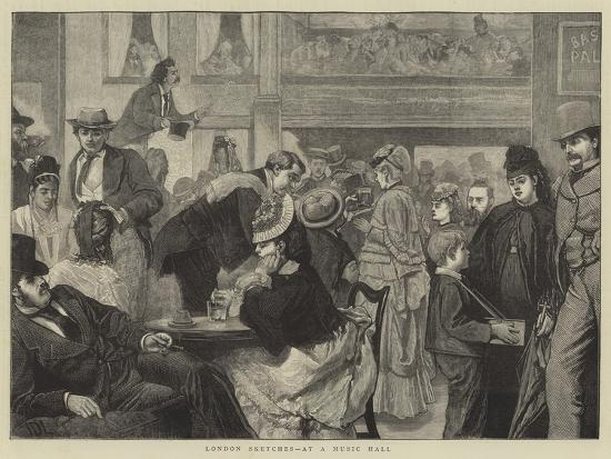London Sketches, at a Music Hall-Sir James Dromgole Linton-Giclee Print