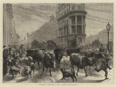 London Sketches, the Cattle Nuisance-Godefroy Durand-Giclee Print