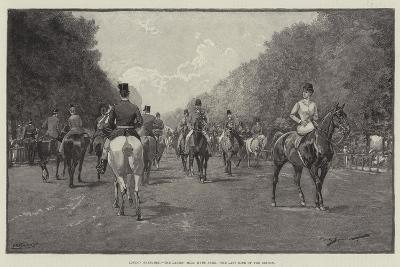 London Sketches, the Ladies' Mile, Hyde Park, the Last Ride of the Season--Giclee Print