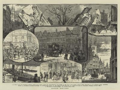 London Sketches--Giclee Print