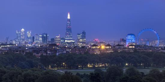 London Skyline with the Shard Above Hyde Park, London, England, Uk-Jon Arnold-Photographic Print