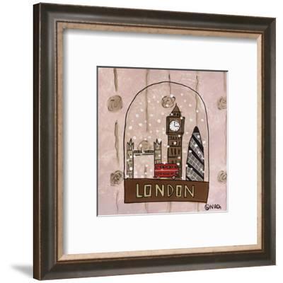 London Snow Globe-Brian Nash-Framed Art Print