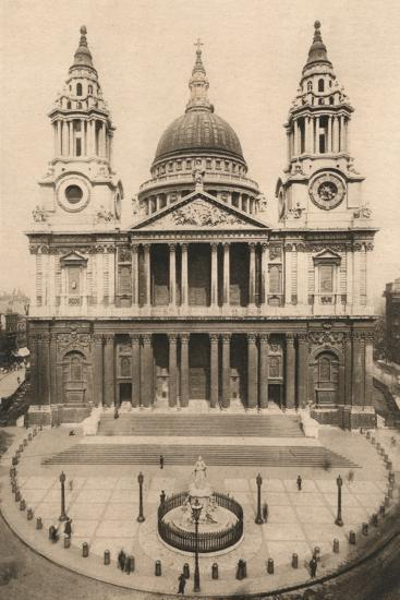 'London, St. Paul's Cathedral', 1924, (c1900-1930)-Unknown-Photographic Print