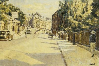 London Street, Bath, Looking Towards Walcot, c.1939-Walter Richard Sickert-Giclee Print