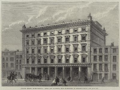 London Street Improvements, Lewis and Allenby's Silk Warehouse in Conduit-Street--Giclee Print