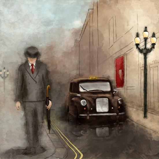 London Streets II-SD Graphics Studio-Art Print