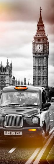 London Taxi and Big Ben - London - UK - England - United Kingdom - Europe - Door Poster-Philippe Hugonnard-Photographic Print