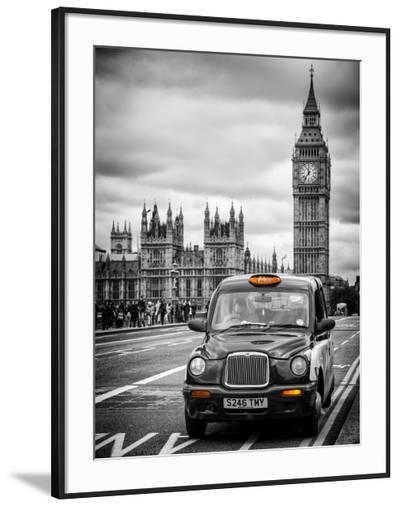 London Taxi and Big Ben - London - UK - England - United Kingdom - Europe-Philippe Hugonnard-Framed Photographic Print