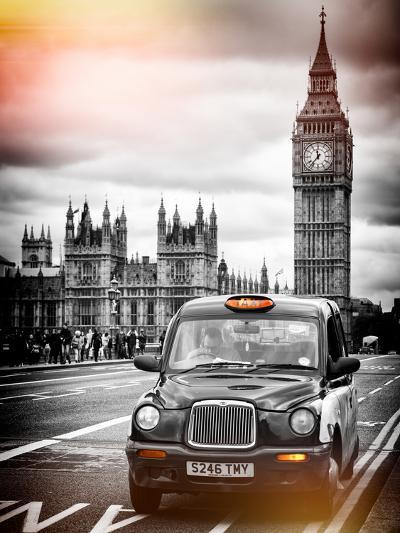 London Taxi and Big Ben - London - UK - England - United Kingdom - Europe-Philippe Hugonnard-Photographic Print