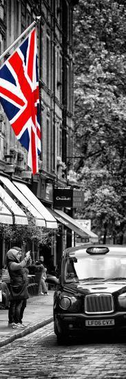 London Taxi and English Flag - London - UK - England - United Kingdom - Door Poster-Philippe Hugonnard-Photographic Print