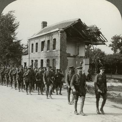 London Territorials on the March, La Bassee Road, Northern France, World War I, 1914-1918--Photographic Print