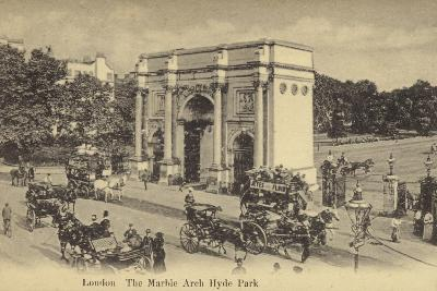 London, the Marble Arch Hyde Park--Photographic Print