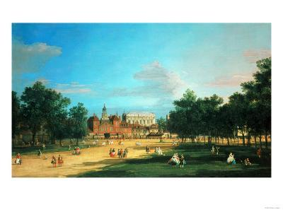 London: the Old Horse Guards and the Banqueting Hall, Whitehall, from Saint James's Park, 1749-Sir Lawrence Alma-Tadema-Giclee Print